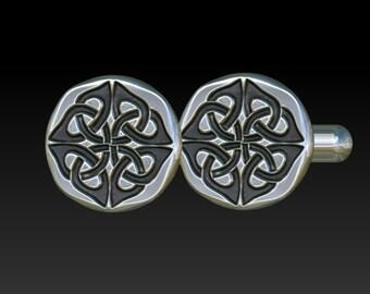 celtic cufflinks cuff links cufflinks mens cuff links gift for men mens jewelry silver cuff links  round cuff links CR3