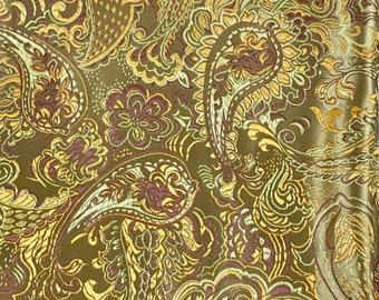 Gold paisley polyester nylon