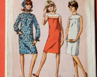 Simplicity 6371 Simple to sew vintage dress pattern Teen size 10