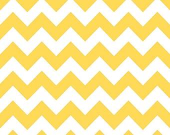 Yellow Medium Chevrons Fabric by Riley Blake Designs - By the Yard - 1 Yard