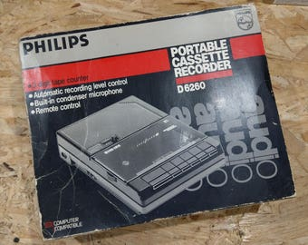 Rare Vintage Cassette Player / Recorder PHILIPS D6260