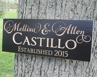 Wedding Date Sign, Wooden Family Name Sign, Custom Date Sign, Est Name Date Sign, Special Date Sign, Benchmark Custom Signs, Maple GV