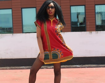 Dashiki Dress Shift Dress African Dress African Clothing African Shift Dress Ankara Festival Dress Summer Outfit African Fashion Womens