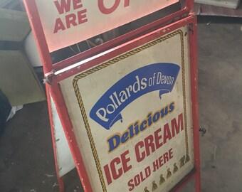 Floor standing Ice cream sign -pollards of Devon