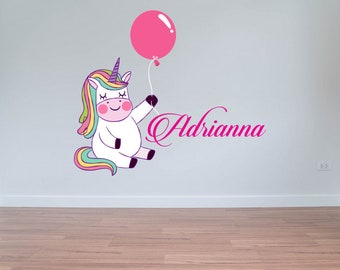 Unicorn custom name  - Personalize Girls name -  Wall Decal For Home Nursery Decoration