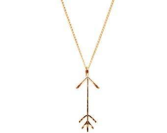 Gold Arrow Necklace, Zodiac Saggitarius Birthday Necklace