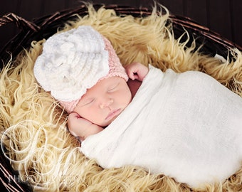 Baby Flower Hat, Baby Girl Hat, Crochet Baby Hat, Flower Hat, Baby Hat, Crochet Flower Hat, Newborn Hat, Baby Girl Beanie, Newborn Girl Hat