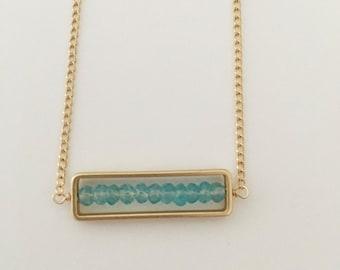 Apatite Bar Necklace