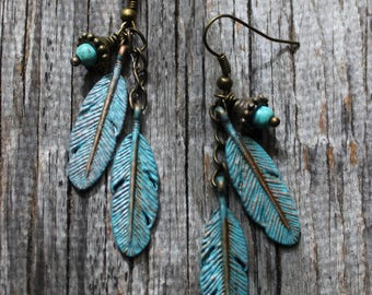 Turquoise Patina Earrings