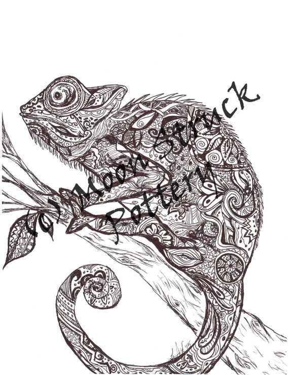 animal coloring page iguana coloring page adult coloring - Iguana Coloring Page