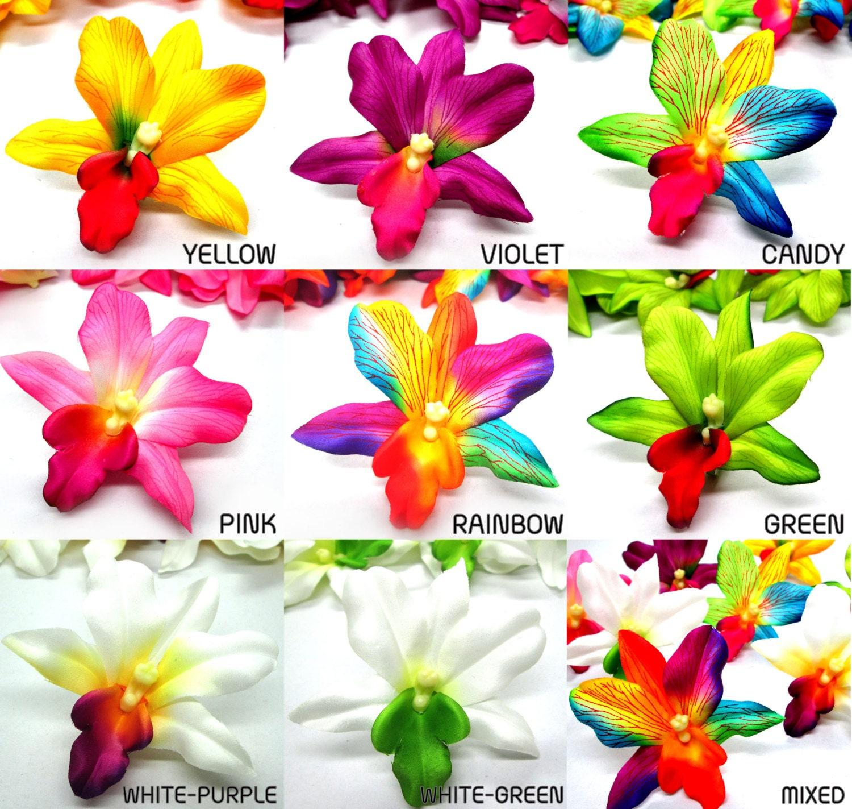 12 hawaiian cattleya vanda heads artificial silk flower orchid 495 izmirmasajfo