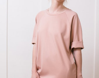 T-shirt dress Tshirt dress Women's dress Women's tunic Mini dress Midi dress Blush dress Jersey dress Oversized dress Pink dress