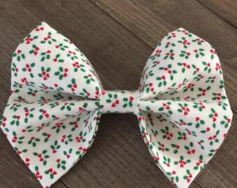 Poinsettia Holiday Bow Tie, Christmas Dog/Cat Bow Tie, Poinsettia Dog/Cat Bow Tie