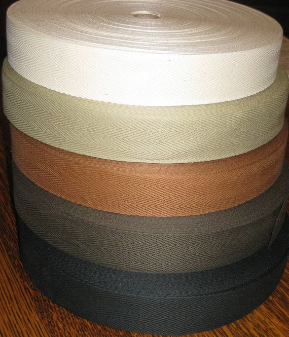 Cotton Rug Binding Tape 1-1/4 Wide: 5 Color Choices