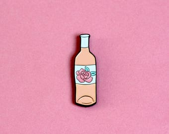 Rosé Wine Enamel Pin Badge - Blush / Basic Wine pin