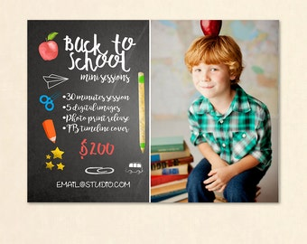 INSTANT DOWNLOAD - Back To School Marketing board Photoshop Template - MA236