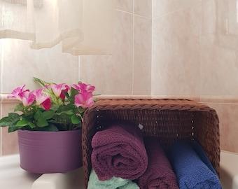 Wicker basket Paper basket Handmade Home decor Towel holder Case keeper Bath accessory Hotel accessory Gift Cestino Cesto Artigianale
