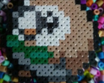 Pokemon Rowlet Perler Bead Pixel Art