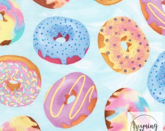 Timeless Treasures Donut Fabric // Quilting Cotton // Cotton Woven // 100% cotton // Donut Fabric