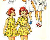70s DRESS UNLINED JACKET Girls Sewing Pattern - 1974 Simplicity 6241, Size 6 -  Gently Used