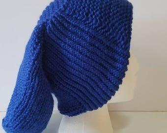 Royal Blue Long Slouchy Hat
