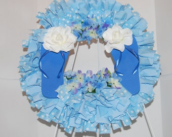 Blue Flip-flop wreath
