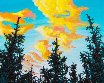 Sunset through the Trees ARTWORK PRINT by Carlo Costantino