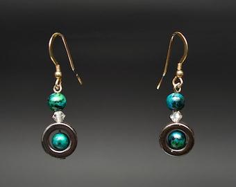 Malachite and Hematite Earrings