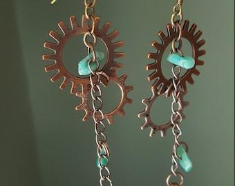 Cog/gear earrings
