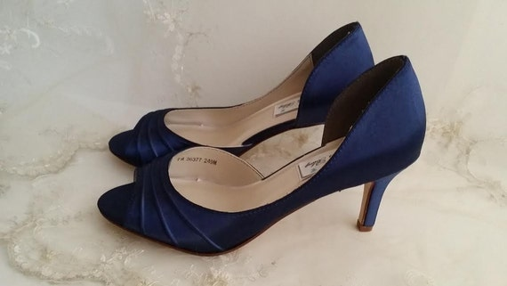 Wedding shoes navy blue bridal shoes navy blue wedding shoes junglespirit