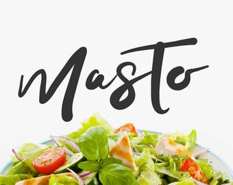 Masto Typeface Font Digital Download Creative