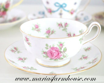 Vintage English Bone China Tea Cup and Saucer by Royal Chelsea, Gifts for Her, Replacement China