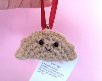 Crochet Pierogi Christmas Ornament