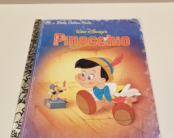 Walt Disney's Pinocchio, A Little Golden Book, Adapted by Eugene Bradley Coco, Illustrated by Ron Dias, Copyright 1990, 1993 Printing