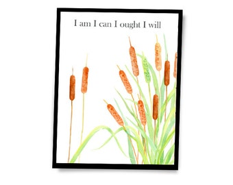 Charlotte Mason Quote | Homeschool Educator | Inspiration Wall Art | Mantra | Nature Bulrushes