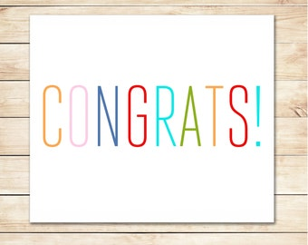 congratulation card printable