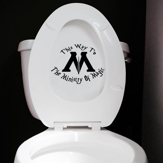 Ministry Of Magic Toilet Sticker Funny Harry Potter Toilet
