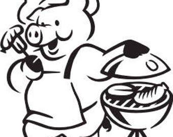 Pig Cooking SVG FILE