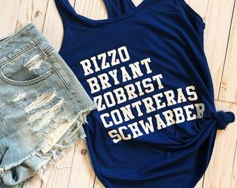 Cubs Tank - Cubs Shirt - Cubs Womens Shirt - Cubs Apparel - Baseball Tank - Baseball Shirt - Cubs baseball -
