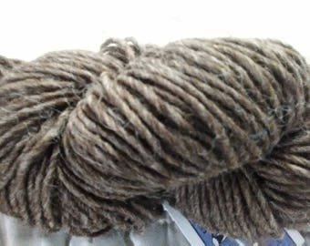 Shetland Single Ply Lopi Style Yarn-Dark Brown