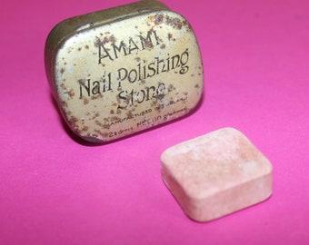 Collectable Nail Polishing Stone in Tin