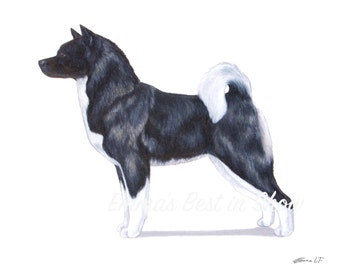 Akita Inu Dog - Archival Fine Art Print - AKC Best in Show Champion - Breed Standard - Working Group - Original Art Print