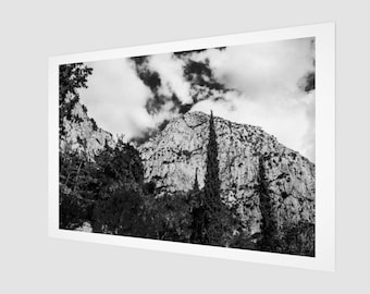 Mountain and Forest formation in Greece Fine Art Print , 1:50 Limited Edition / home decor / decoration / photo /black and white /landscape