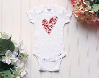 Valentine's Day Onesie® - baby Onesies®®, baby girl Onesie®, Valentine's Onesie®, valentine's day, first valentines Onesie®, heart Onesie®
