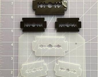 ON SALE SALE!! Razors set flexible plastic resin mold ~ 3 cavity