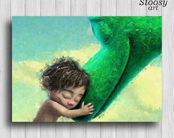 the good dinosaur art print nursery watercolor kids wall art disney decor
