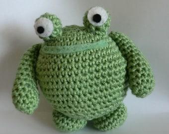 Fat friends frog amigurumi PDF crochet pattern