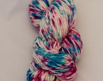 Celestial Cerise- Merino Worsted Weight Yarn- Hand Dyed- OOAK- 0027