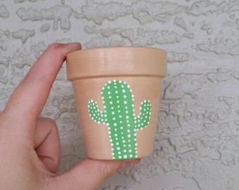Painted Cactus Pot