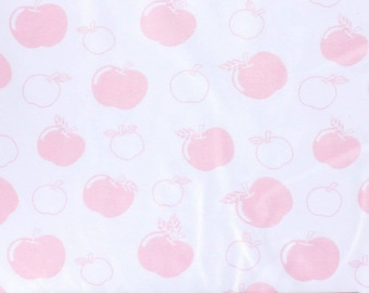 COUPON OF WHITE JERSEY PRINTED APPLES ROSES